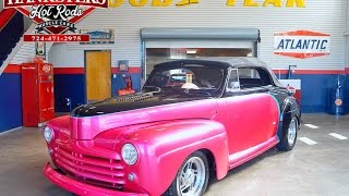 1948 Ford Convertible Street Rod Black & Pink