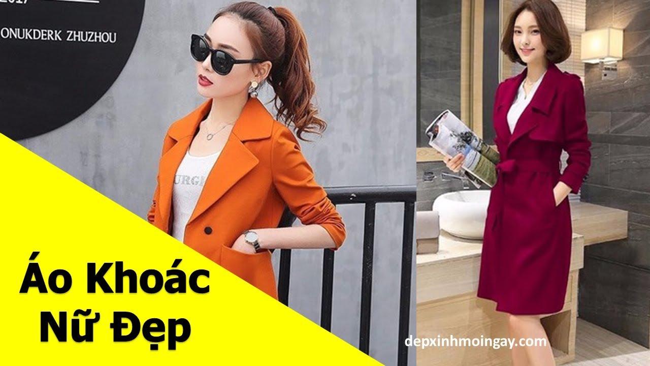 Top Mẫu áo khoác Nữ đẹp | 50 Áo khoác Kaki nữ đẹp thời trang Phần 4