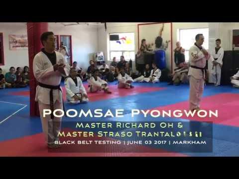 Master Richard Oh & Master Straso Trantalovski. Poomsae Pyongwon. 4th Dan Black Belt.