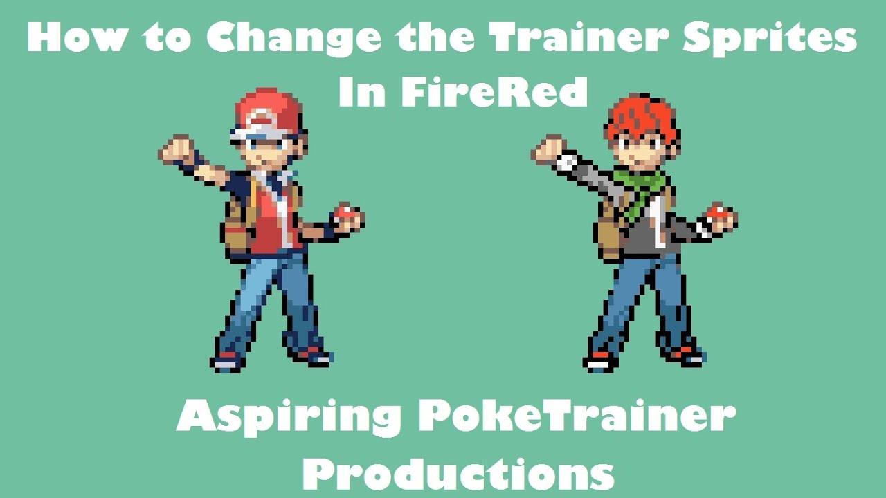 Change Trainer Sprites And Backsprite Of Protagonist Tutorial Pokemon Rom Hack Youtube