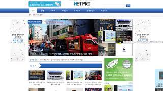 넷프로 인터넷신문 홈페이지 이미지형B