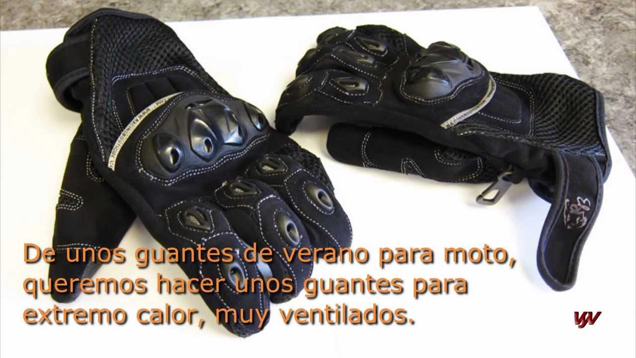Como hacer guantes de moto de verano muy ventilados. How to make ...