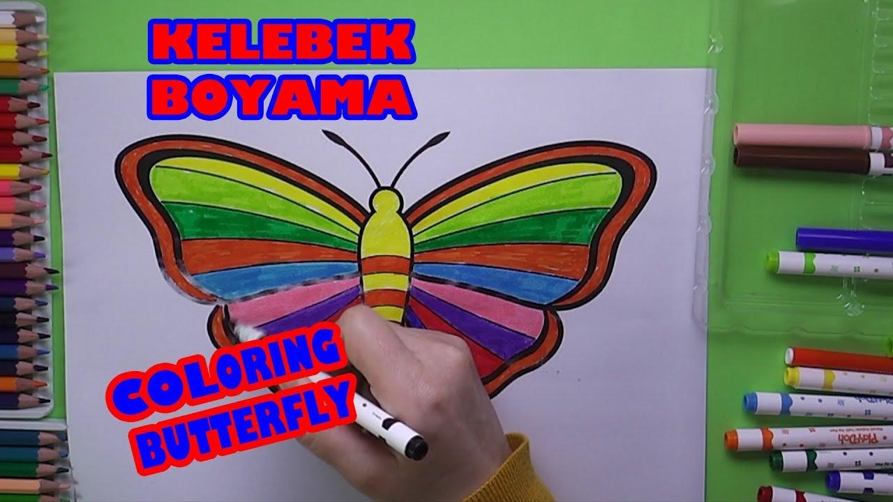 Sevimli Kelebek Boyama Kelebek Nasil Boyanir Coloring Pretty