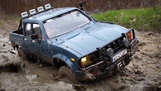 RC STAR 660 & Toyota Hilux in the MUD / AUTUMN OFF-ROAD / RC SCALE OFF-ROAD