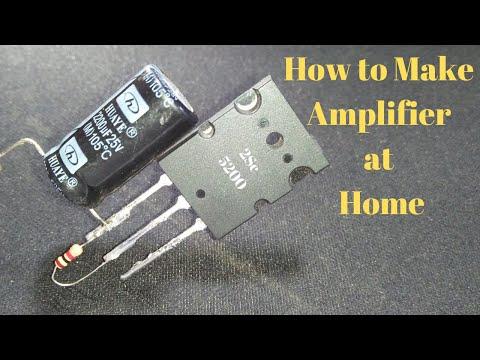 How to Make Amplifier at Home 2sc5200 Mosfet 100 Watt Power Full AMP Diy Audio Amplifier