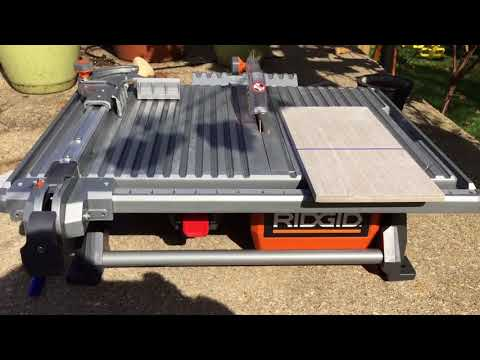 RIGID 7 in. Table Top Wet Tile Saw - Overview and Demonstration