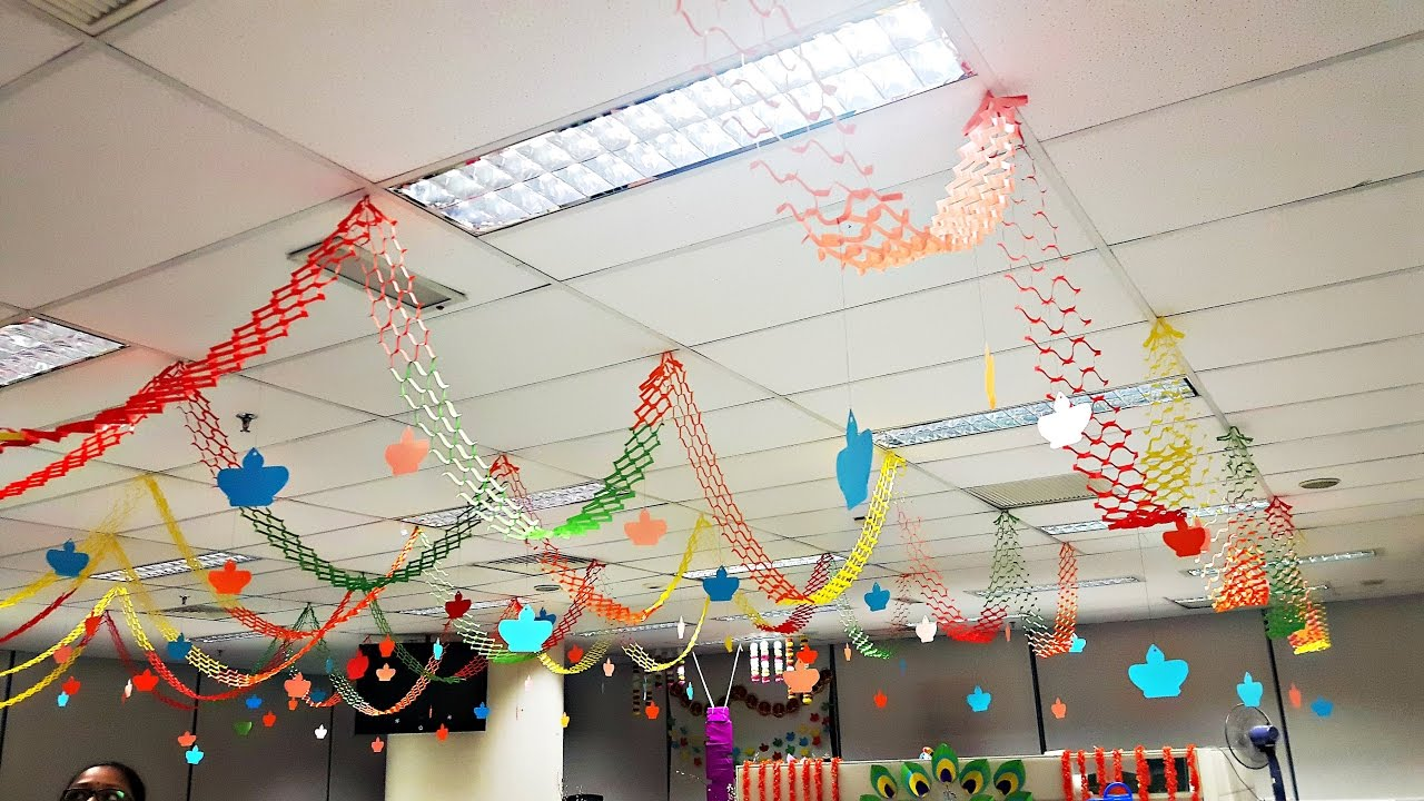 Very Simple And Easy Hanging Paper Decorations For