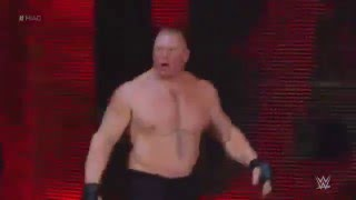 Brock Lesnar entrance for the Hell in Cell!