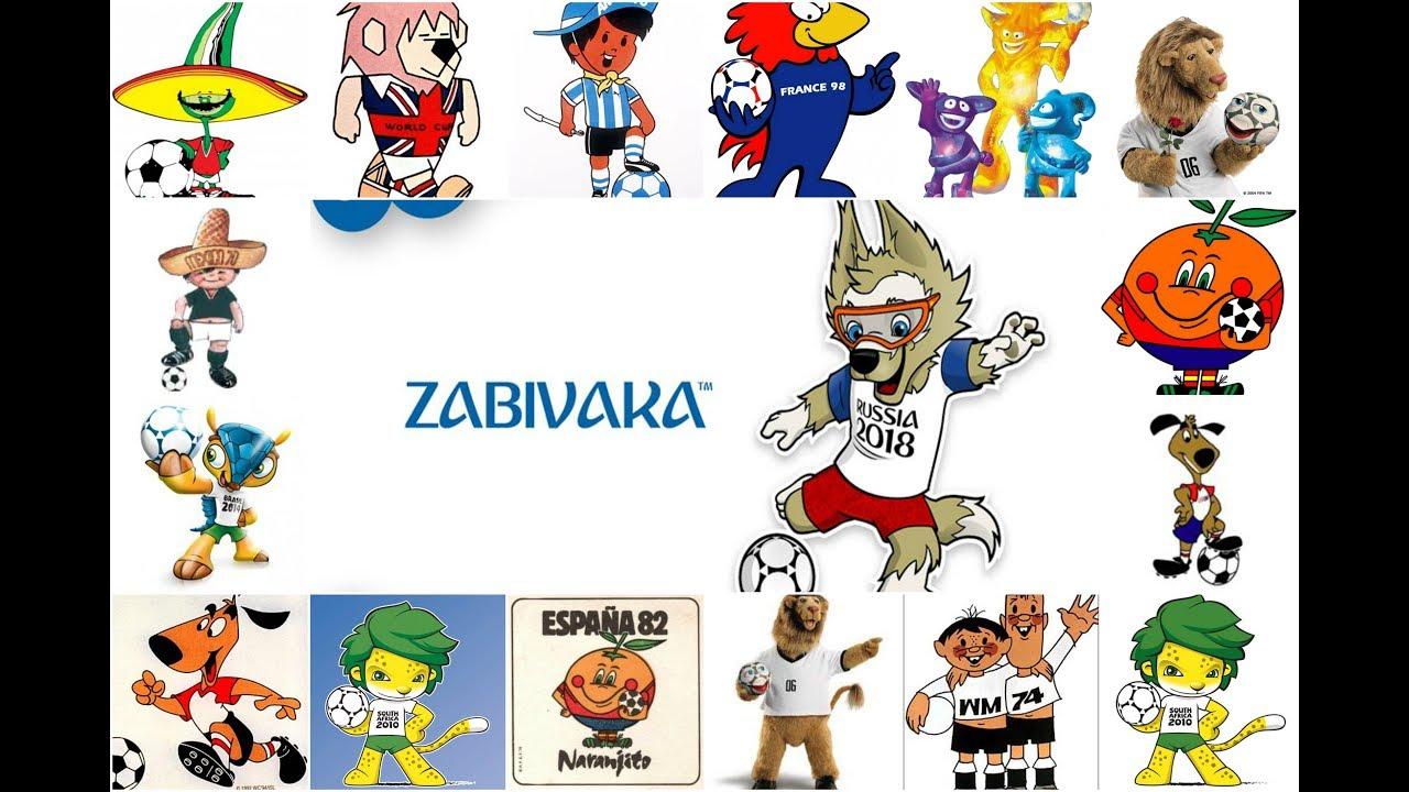 A história de todas as Mascotes das Copas do Mundo - YouTube cead71cd6e05c