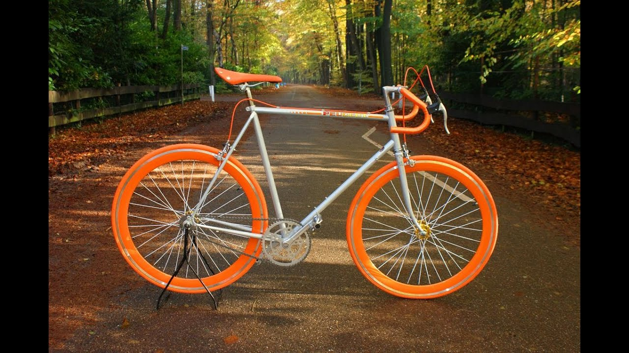 peugeot 103 carbolite fixie singlespeed fixed gear youtube. Black Bedroom Furniture Sets. Home Design Ideas