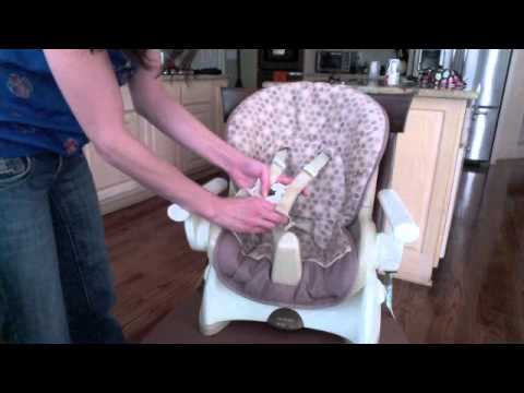 graco space saver high chair swivel auckland fisher price youtube