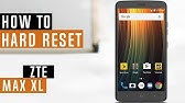 ZTE ZMax Pro How To hard Reset - YouTube