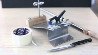 Полный обзор точилки для ножей 2016. ТДНА-16-04. Подготовка к заточке ножа.