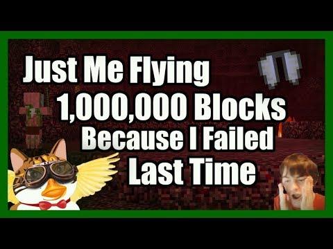 Flying Over 1,000,000 Blocks In Survival & SAVING MY STUFF