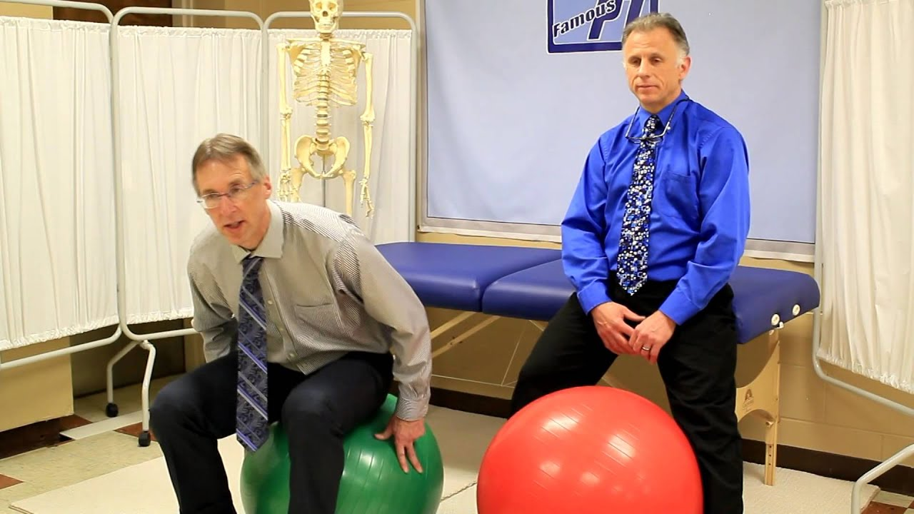 Download Use Ball as Chair at Work?? Is it good for Back Pain or Backache?