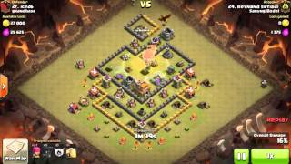 Clash of Clans Indonesia SARUNG BODOL (COC) - TH6 VS TH7 Attack with BALLOONS 3 STARS #224