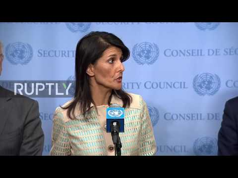 UN: 'You either support North Korea or you support us' - US ambassador Nikki Haley