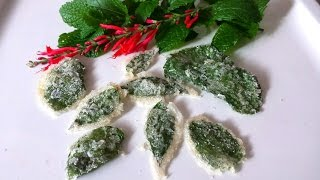 How to Make Candied Herbal Leaves (Lemon Balm, Spearmint, Mint)