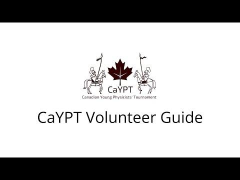 CaYPT 2020 Volunteer