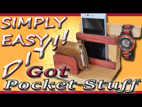 DIY Catch All / Valet tray / Smartphone Station Organizer [feat. Jord Wood Watches]