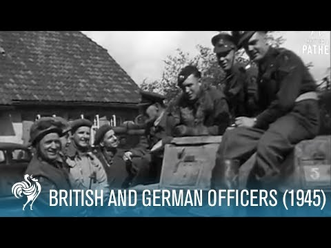 British And German Officers (1945)