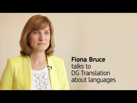 Fiona Bruce talks to DG Translation about languages