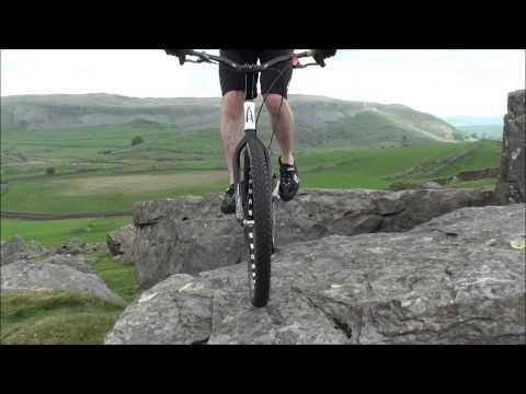 Bike Trials  Ben Singer, Stan Shaw and Adam Read ride some rocks