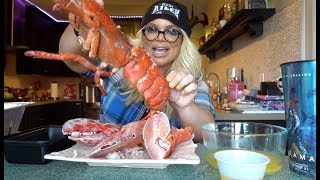 GIANT 4 POUND LOBSTER MUKBANG!