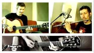 Oliver Mochmann - Land in Sicht [acoustic guitar & flute 6/8 latin-jazz w/funky slap guitar]