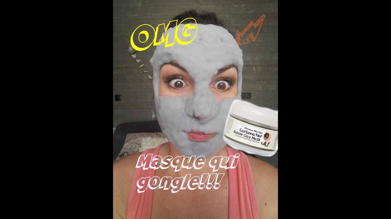 omg le masque qui rend moche carbonated bubble clay mask youtube. Black Bedroom Furniture Sets. Home Design Ideas