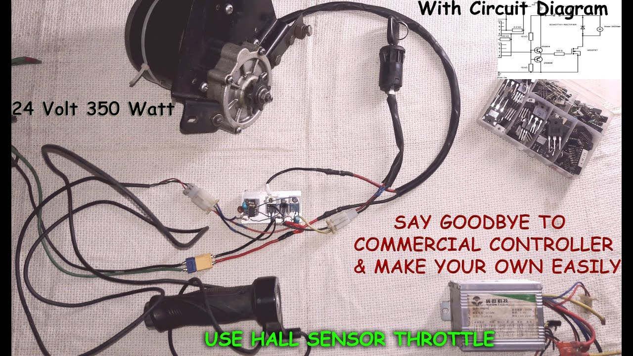 how to make an electric bike motor speed controller with circuit diagram [ 1280 x 720 Pixel ]