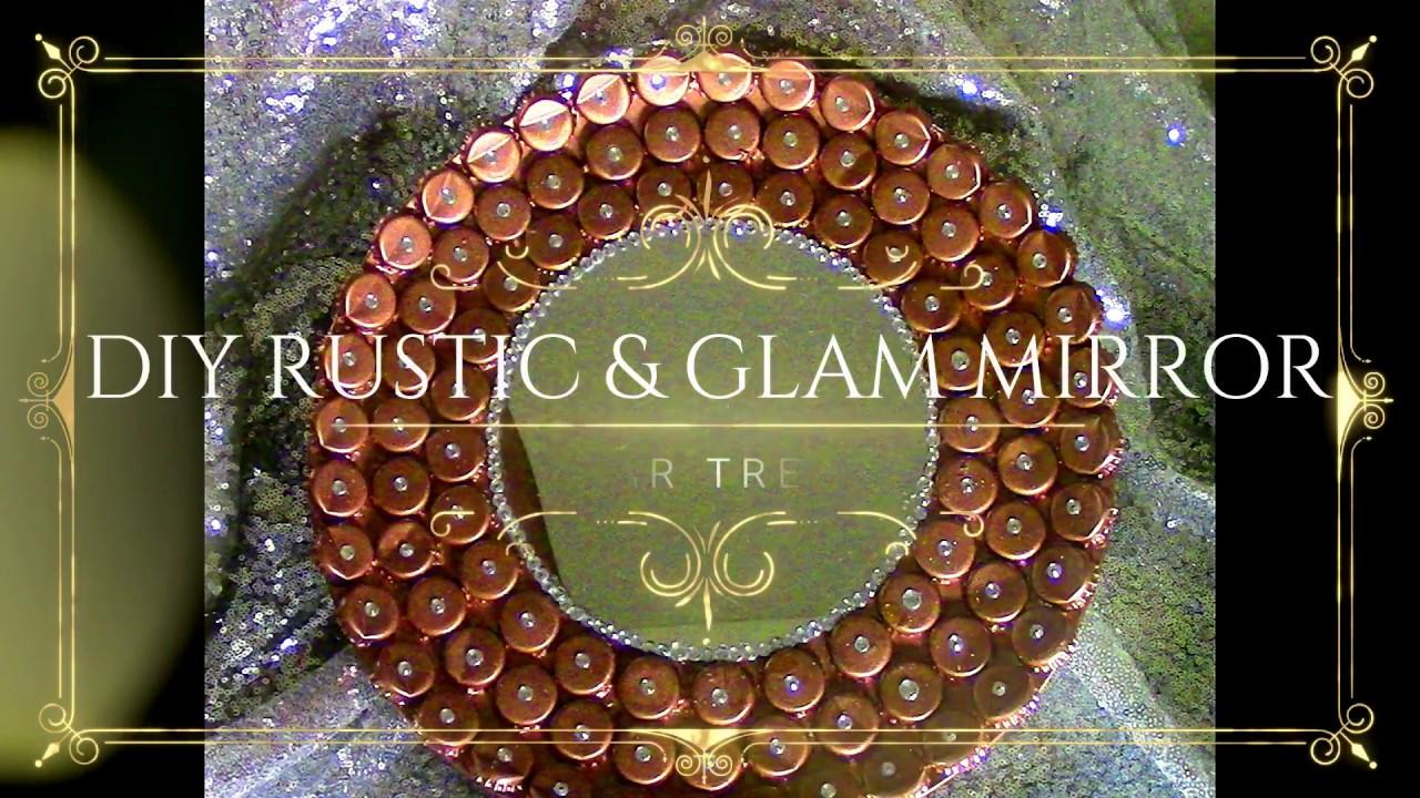 diy rustic  u0026 glam dollar tree home decor mirror