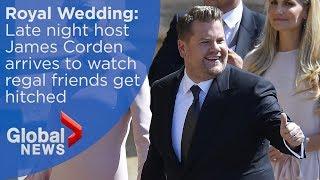 Royal Wedding: Late night host James Corden arrives at Windsor Castle