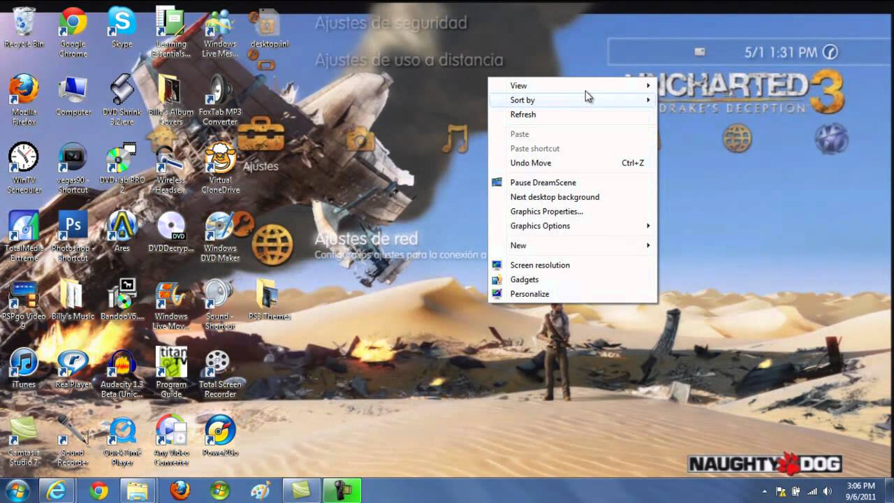 PS3 Dynamic Themes On PC - YouTube