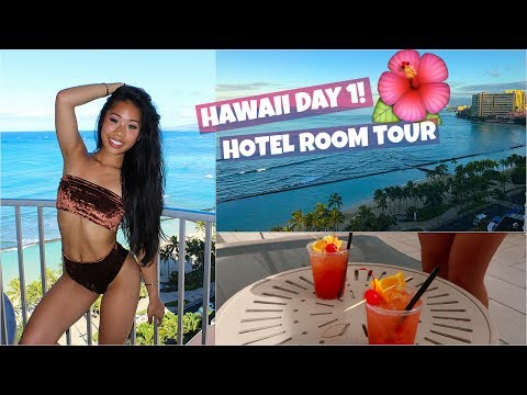 HAWAII VLOG DAY 1 | HOTEL ROOM TOUR + WE GOT KICKED OUT OF A RESTAURANT!
