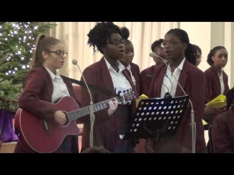 St Anne's Catholic Hight School Gospel Choir Christmas Carol performance 2016c