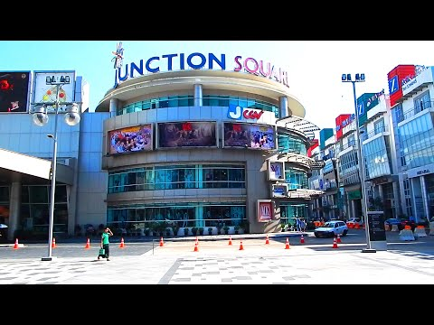 A walk around Junction Square in Yangon