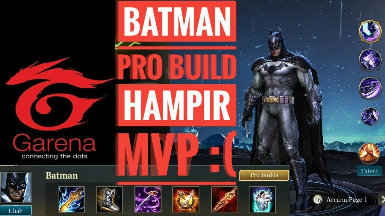 New Hero Batman Pro Build Gameplay Aov Arena Of Valor Mobile Moba