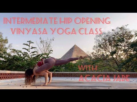 intermediate hip opening vinyasa yoga class  yoga
