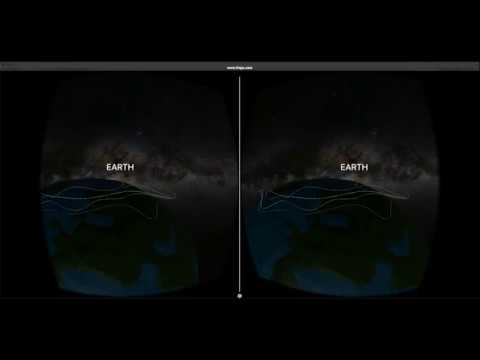 Northernfire shows the user various aspects of the northern lights within a VR environment