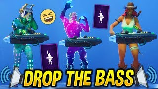 *NEW* Drop The Bass Emote With Popular Fortnite Skins..!