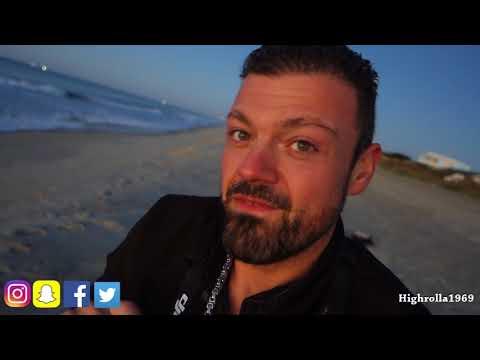 Atlantic Beach North Carolina, Sunrise and Ocean. Vlog 1