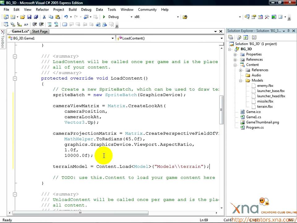 Xna game studio 4. 0 3d tutorial #6 collisions! Youtube.