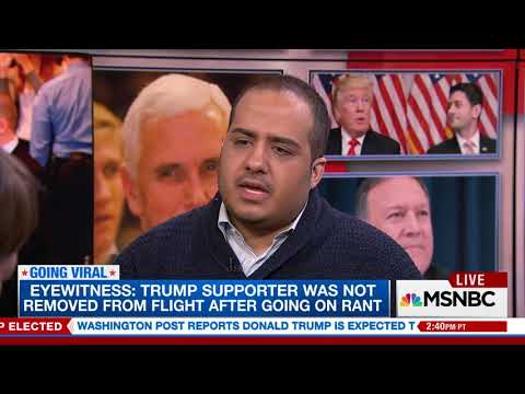 Donald Trump supporter filmed on plane