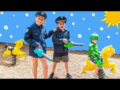 PJ Masks Bubble Patrol with the Assistant and Bat Boy and Paw Patrol