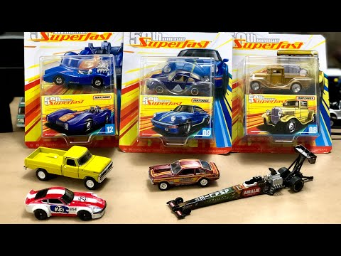 Auto World Drag Cars, New Matchbox Superfast, M2 Truck, Hot Wheels! #Diecast