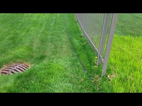Yard Grading for Proper Drainage With French Drain Installat