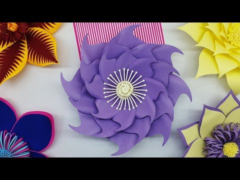 Wedding Backdrop Paper Flowers Making Tutorial with Free Template