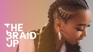 Double Stitch Braids with Curls  | The Braid Up | Cosmopolitan