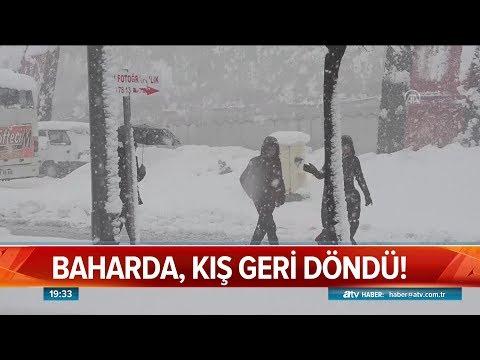 Baharda, kış geri döndü! - Atv Haber 24 Mart 2019